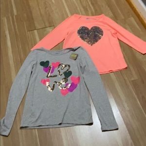 Bundle of 2 new girls shirts from Crazy 8